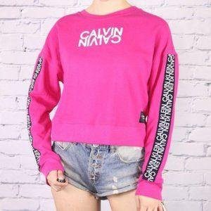 Calvin Klein Performance pink cropped sweater b1